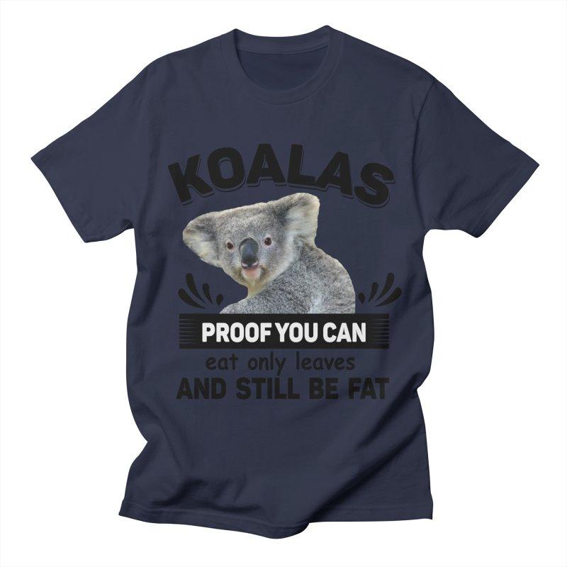 Koala Proof Men's Regular T-Shirt by Mini Moo Moo Clothing Company