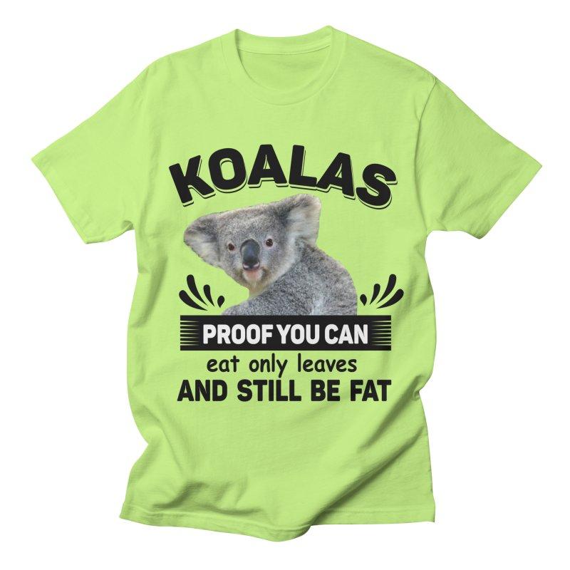 Koala Proof Men's T-Shirt by Mini Moo Moo Clothing Company