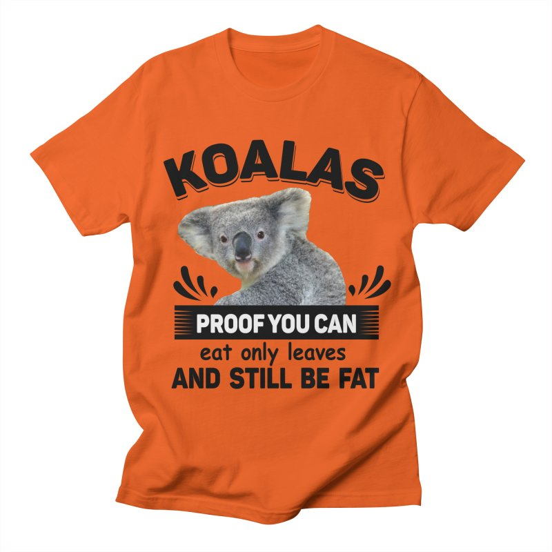 Koala Proof Men's Regular T-Shirt by Mini Moo Moo Clothing Company