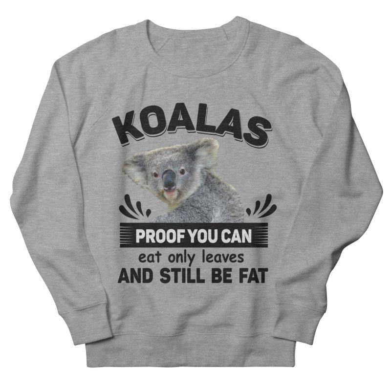 Koala Proof Men's French Terry Sweatshirt by Mini Moo Moo Clothing Company