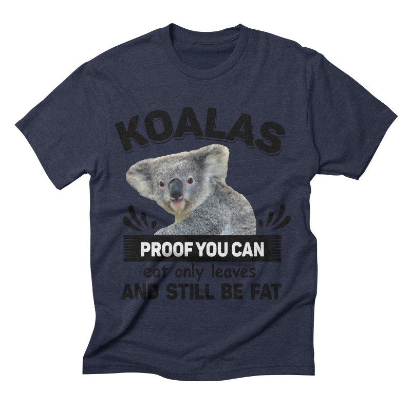 Koala Proof Men's Triblend T-Shirt by Mini Moo Moo Clothing Company