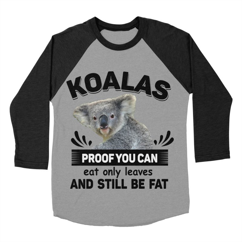 Koala Proof Women's Baseball Triblend T-Shirt by Mini Moo Moo Clothing Company