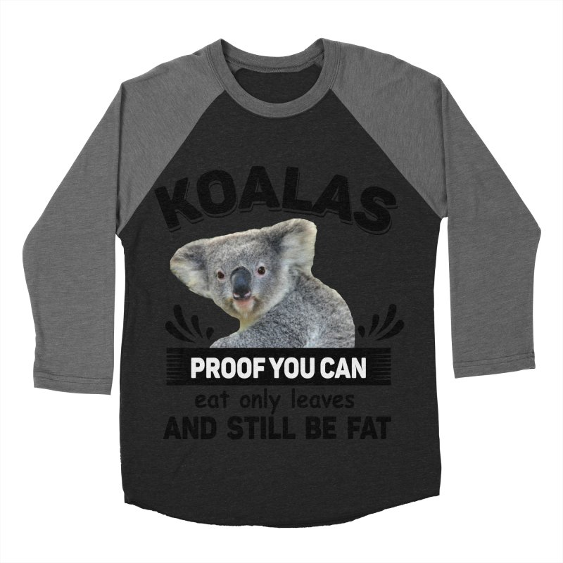 Koala Proof Men's Baseball Triblend Longsleeve T-Shirt by Mini Moo Moo Clothing Company