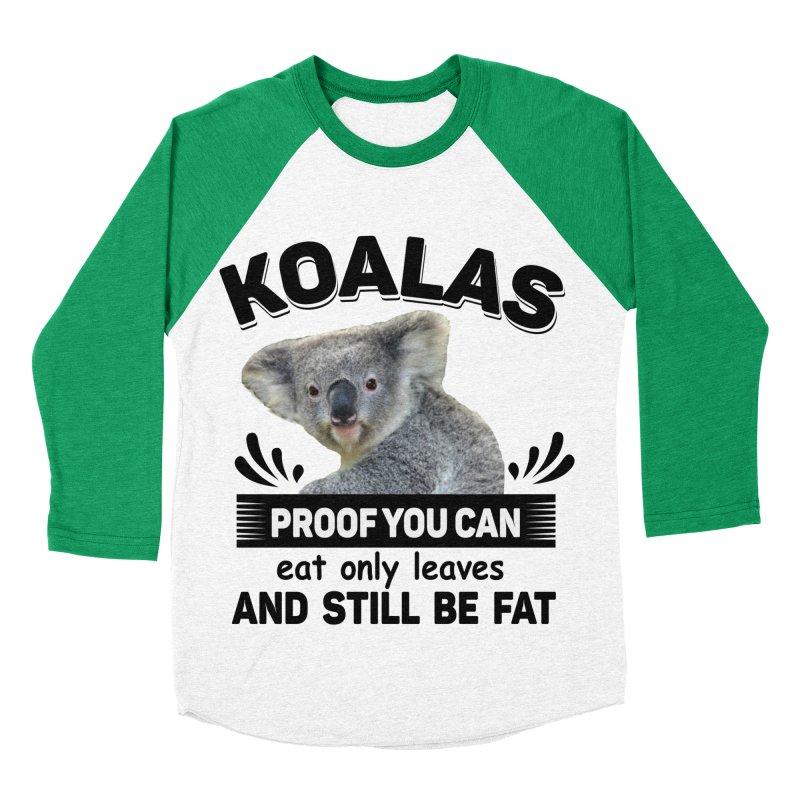 Koala Proof Men's Baseball Triblend Longsleeve T-Shirt by Mini Moo Moo Clothing Company