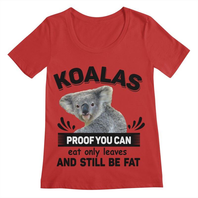 Koala Proof Women's Regular Scoop Neck by Mini Moo Moo Clothing Company