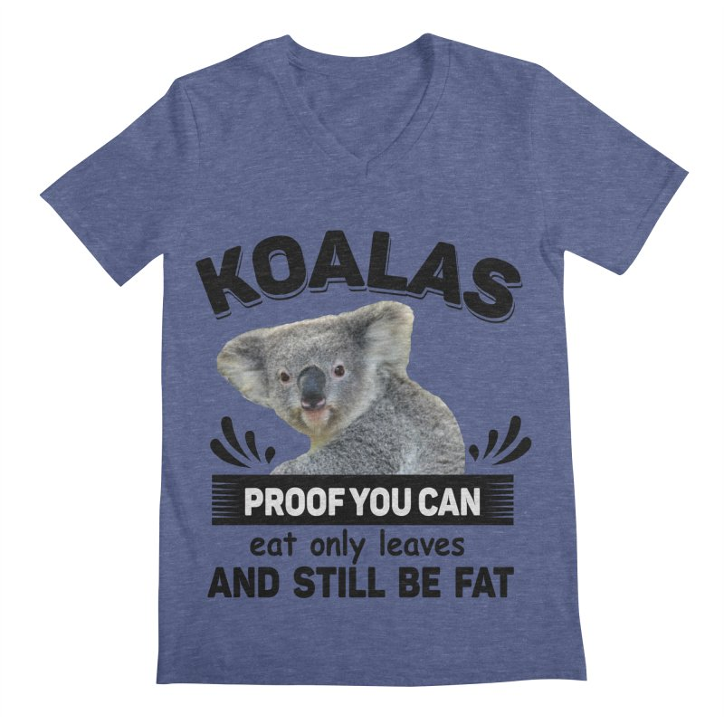 Koala Proof Men's V-Neck by Mini Moo Moo Clothing Company