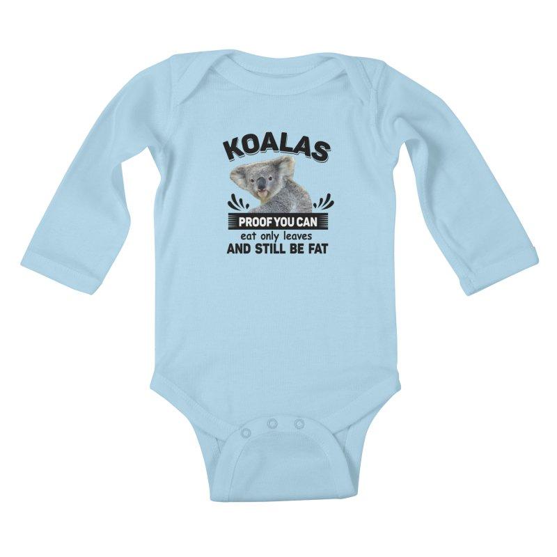 Koala Proof Kids Baby Longsleeve Bodysuit by Mini Moo Moo Clothing Company