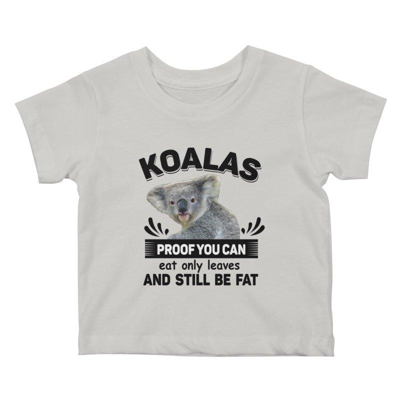 Koala Proof Kids Baby T-Shirt by Mini Moo Moo Clothing Company