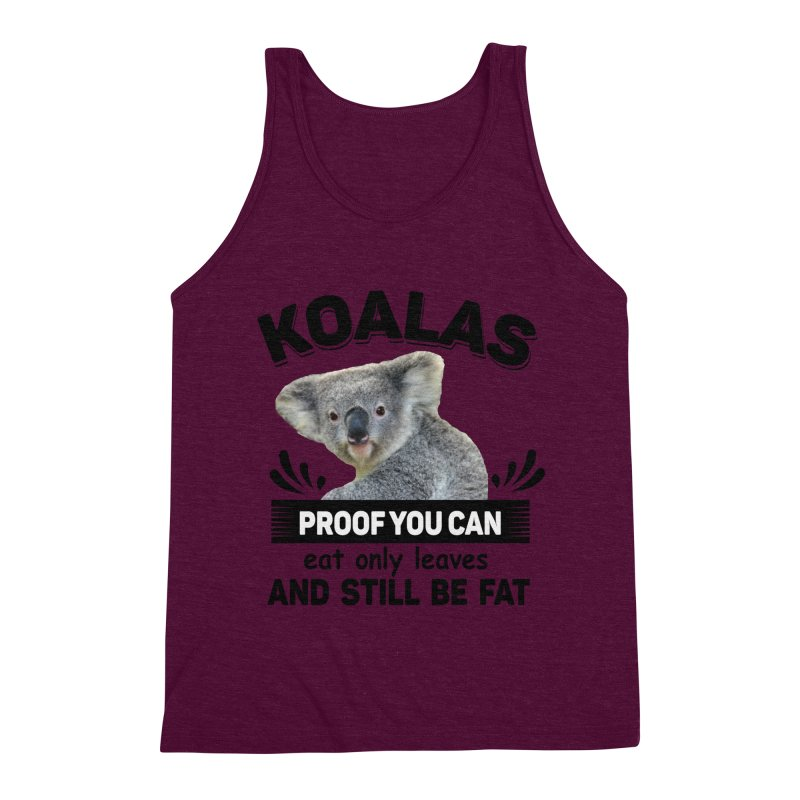 Koala Proof Men's Triblend Tank by Mini Moo Moo Clothing Company