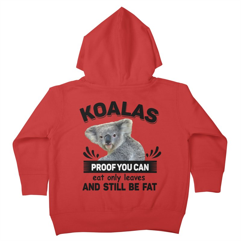 Koala Proof Kids Toddler Zip-Up Hoody by Mini Moo Moo Clothing Company