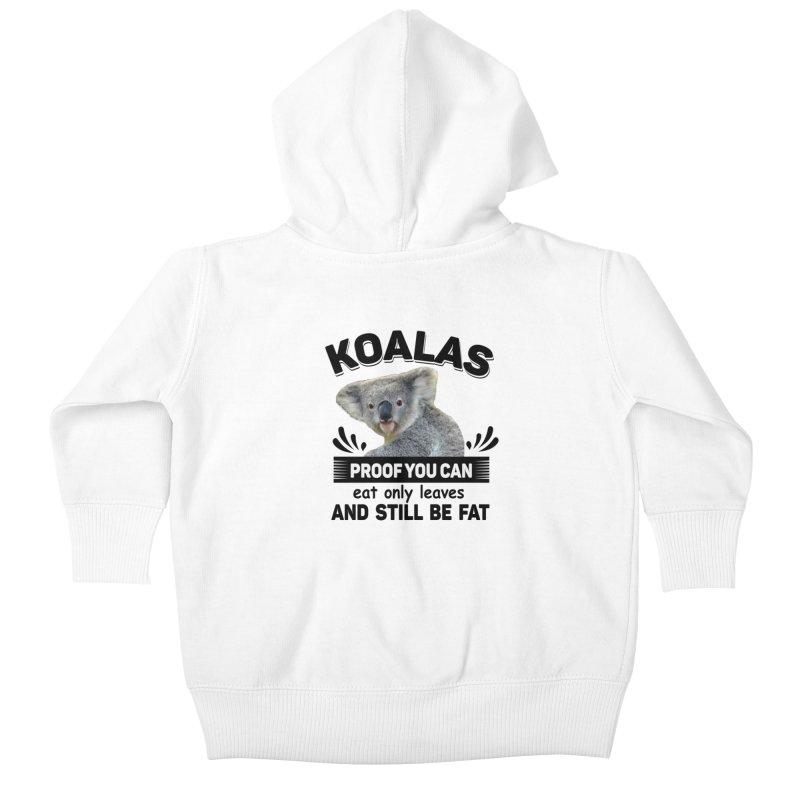 Koala Proof Kids Baby Zip-Up Hoody by Mini Moo Moo Clothing Company