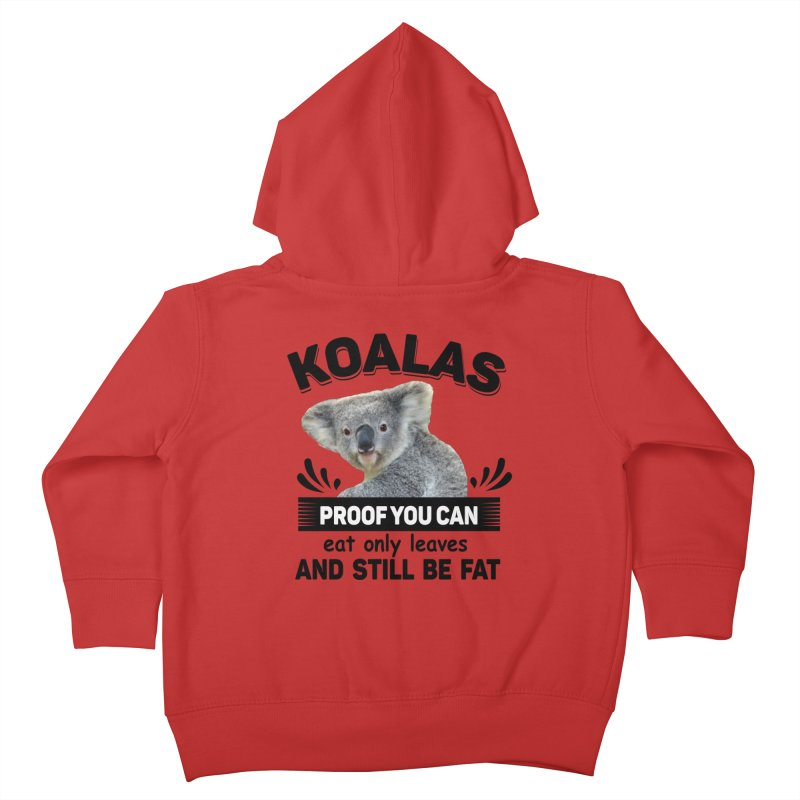 Koala Proof Kids Toddler Zip-Up Hoody by Mini Moo Moo Clothing Company