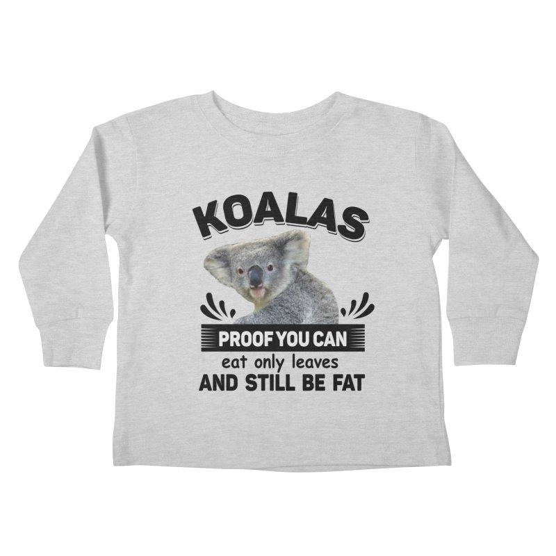 Koala Proof Kids Toddler Longsleeve T-Shirt by Mini Moo Moo Clothing Company