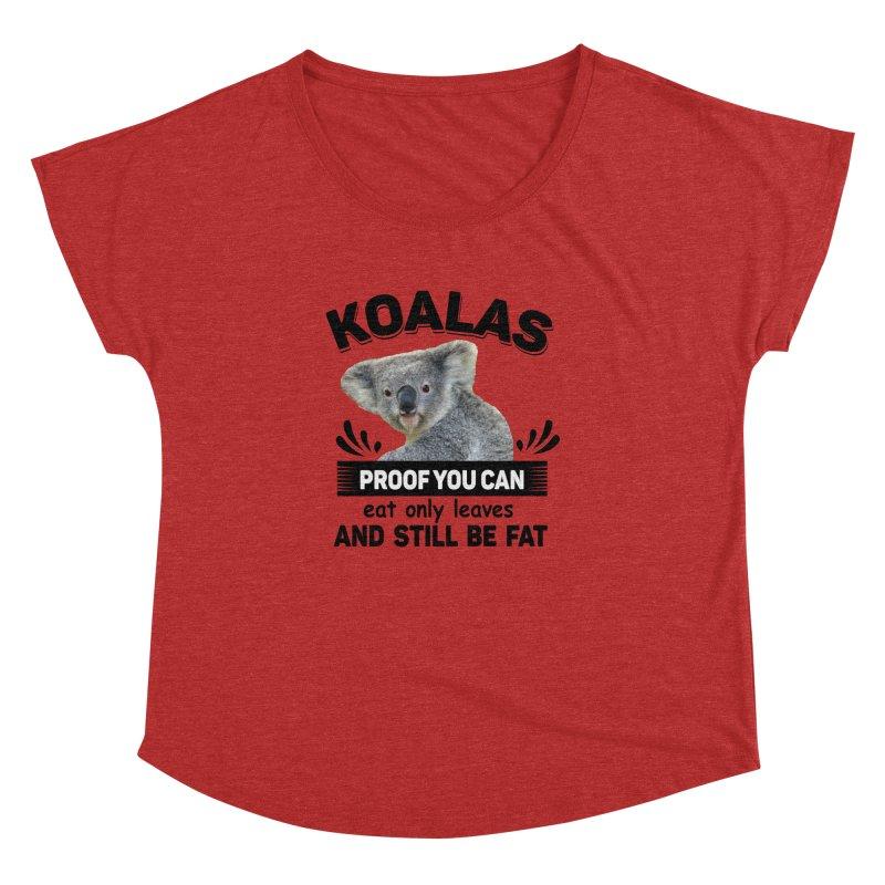 Koala Proof Women's Dolman Scoop Neck by Mini Moo Moo Clothing Company