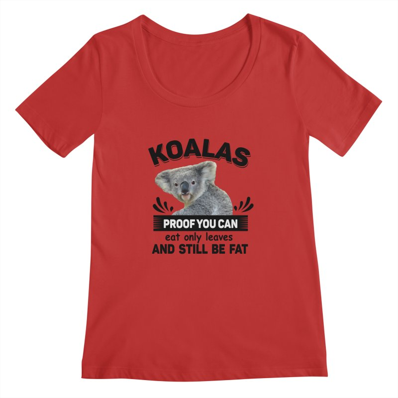 Koala Proof Women's Scoopneck by Mini Moo Moo Clothing Company