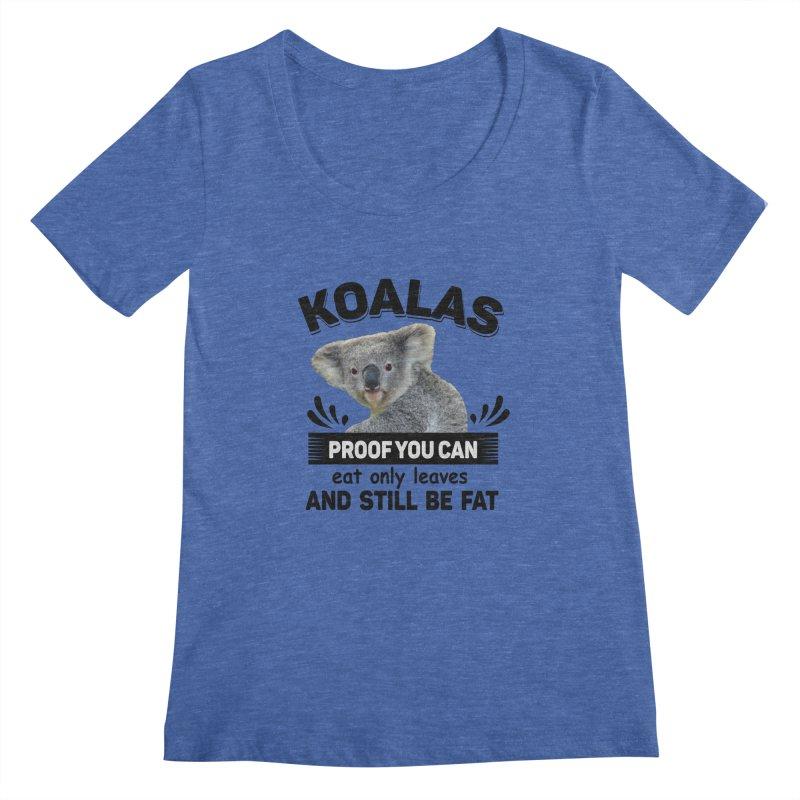 Koala Proof Women's Scoopneck by Mini Moo Moo Clothing Company