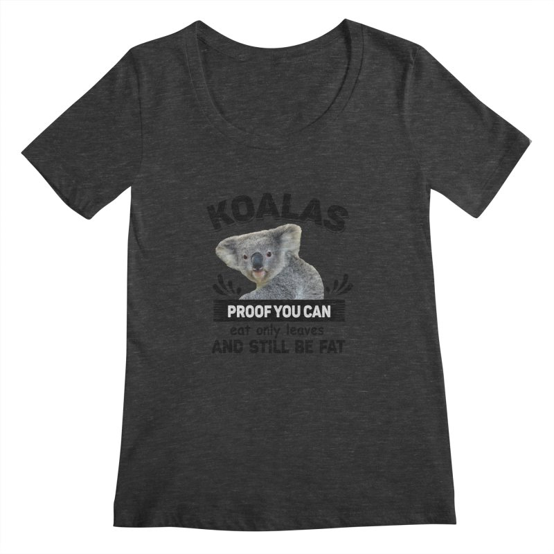 Koala Proof Women's Regular Scoop Neck by Mini Moo Moo Clothing Company