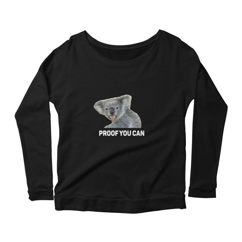 Koala Proof Women's Longsleeve T-Shirt by Mini Moo Moo Clothing Company