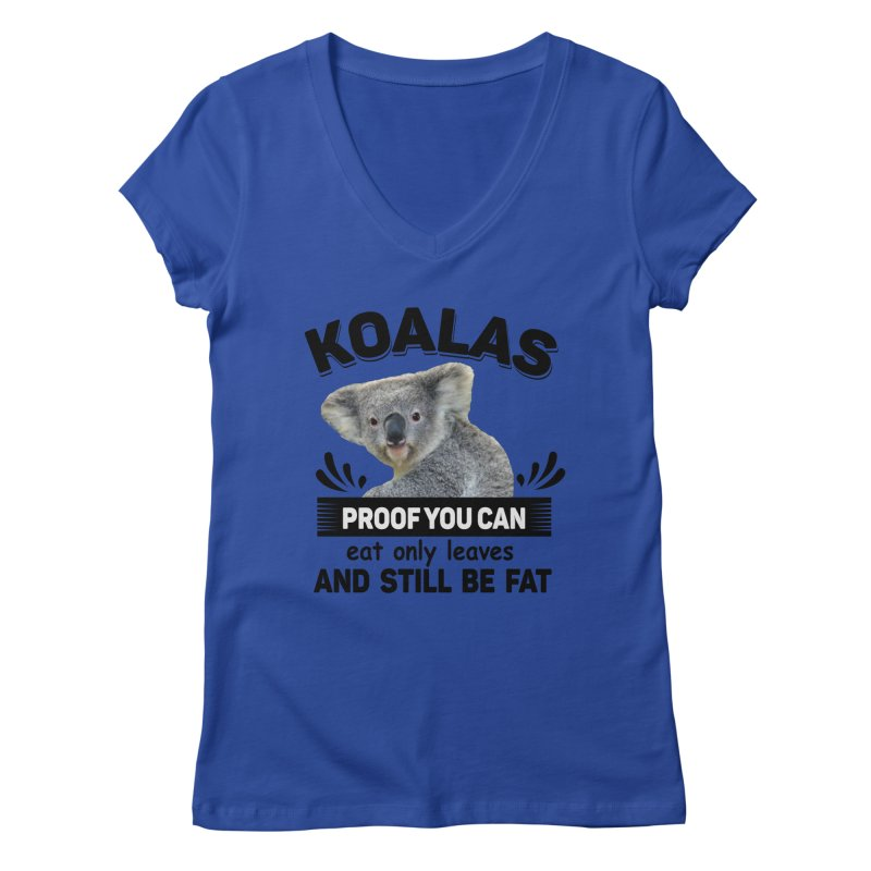 Koala Proof Women's Regular V-Neck by Mini Moo Moo Clothing Company