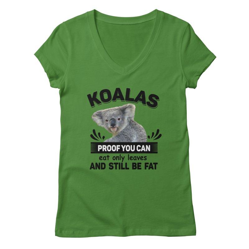 Koala Proof Women's Regular V-Neck by Mini Moo Moo Clothing Company