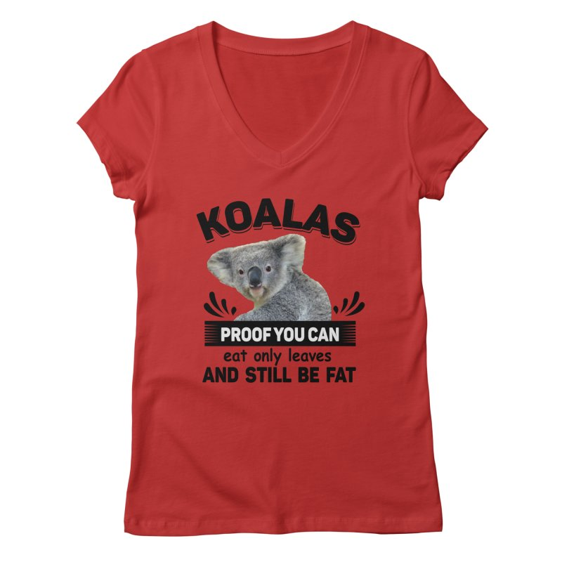 Koala Proof Women's V-Neck by Mini Moo Moo Clothing Company