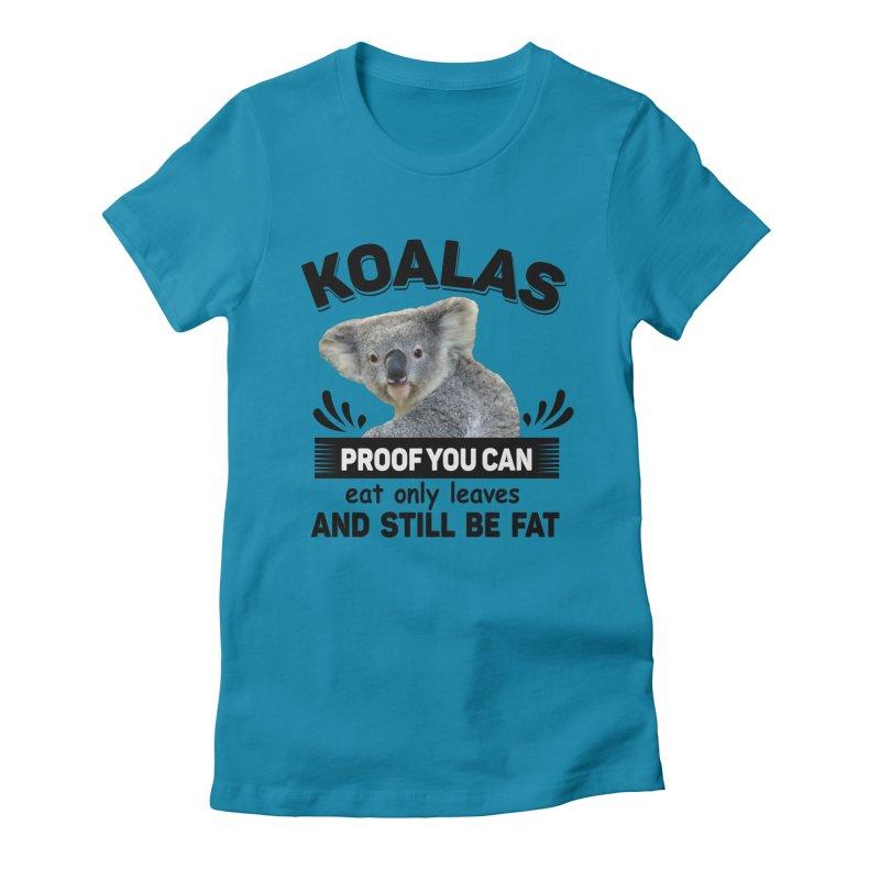 Koala Proof Women's T-Shirt by Mini Moo Moo Clothing Company