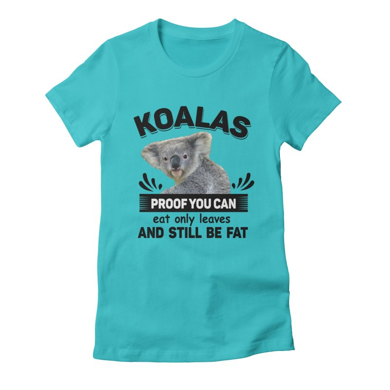 Koala Proof Women's T-Shirt by Mini Moo Moo Clothing Company