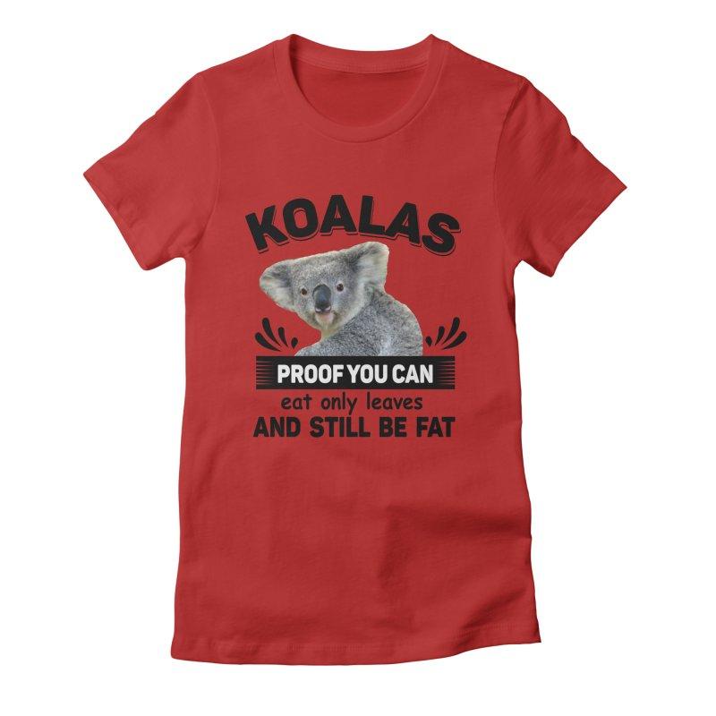 Koala Proof Women's Fitted T-Shirt by Mini Moo Moo Clothing Company