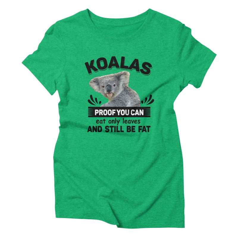 Koala Proof Women's Triblend T-Shirt by Mini Moo Moo Clothing Company