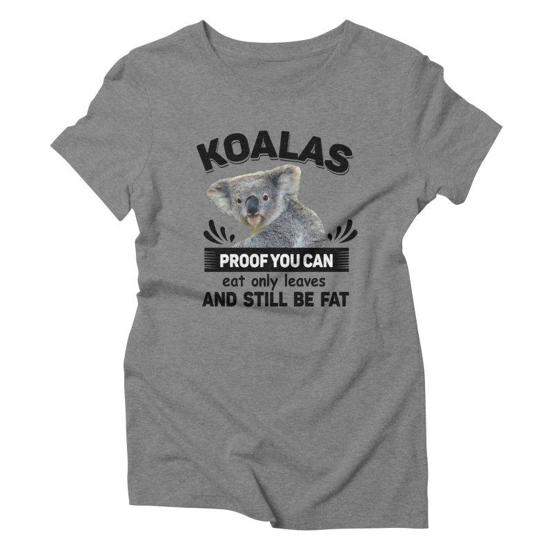Koala Proof Women's Triblend T-Shirt by Mini Moo Moo Clothing Company