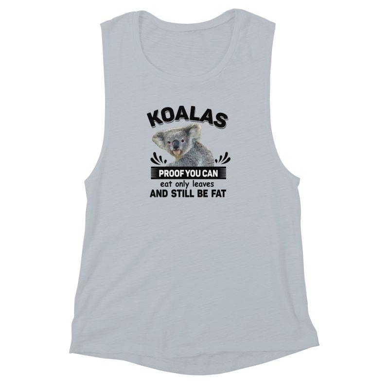 Koala Proof Women's Muscle Tank by Mini Moo Moo Clothing Company