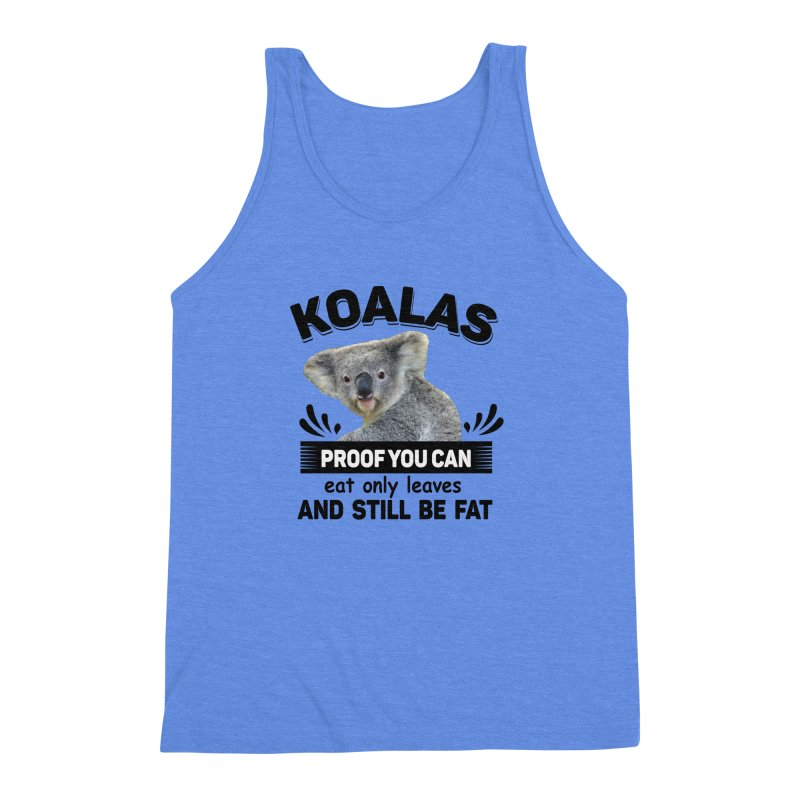 Koala Proof Men's Triblend Tank by Mini Moo Moo Clothing Company