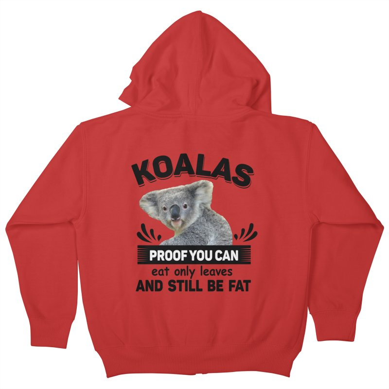 Koala Proof Kids Zip-Up Hoody by Mini Moo Moo Clothing Company