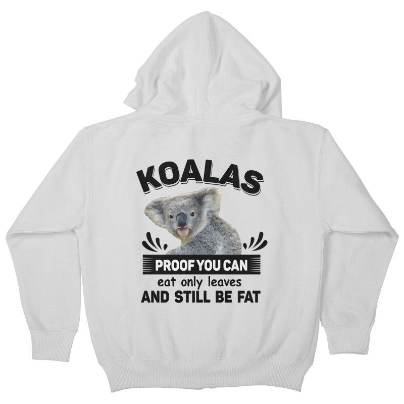 Koala Proof Kids Zip-Up Hoody by Mini Moo Moo Clothing Company