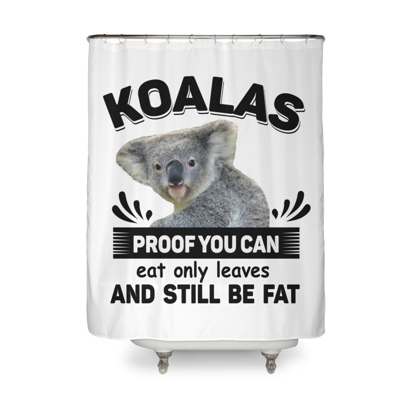 Koala Proof Home Shower Curtain by Mini Moo Moo Clothing Company