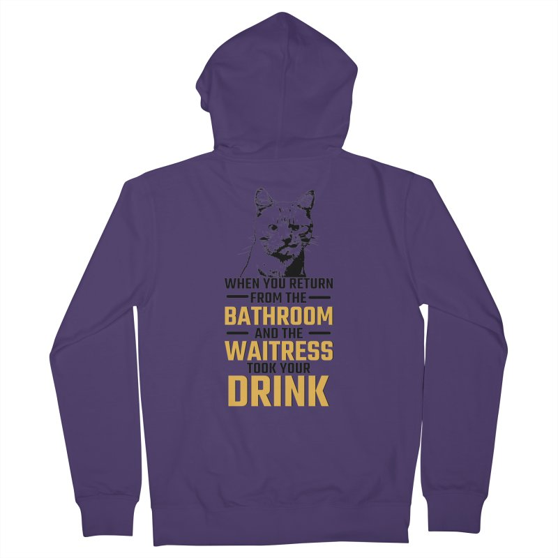 Wheres my Drink Women's Zip-Up Hoody by Mini Moo Moo Clothing Company