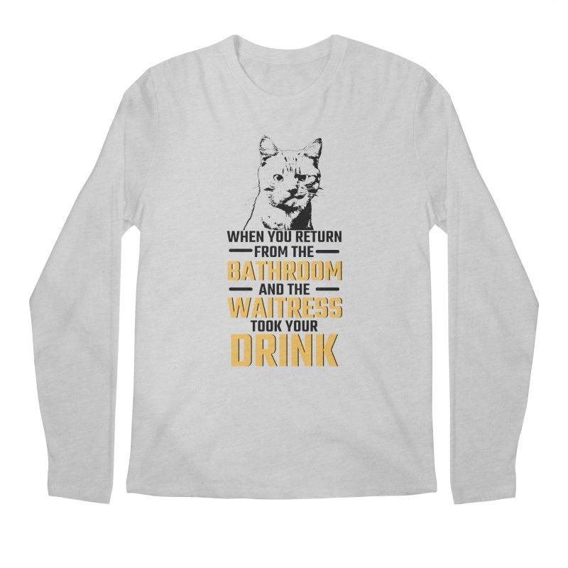 Wheres my Drink Men's Longsleeve T-Shirt by Mini Moo Moo Clothing Company
