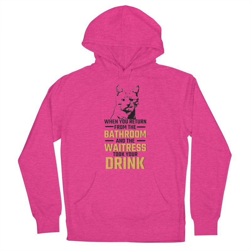Wheres my Drink Men's French Terry Pullover Hoody by Mini Moo Moo Clothing Company