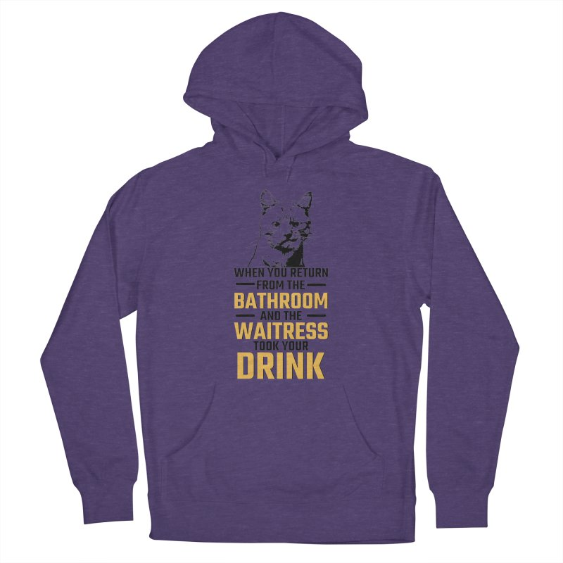 Wheres my Drink Women's French Terry Pullover Hoody by Mini Moo Moo Clothing Company