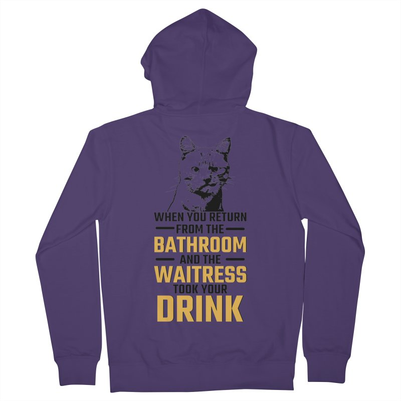 Wheres my Drink Women's French Terry Zip-Up Hoody by Mini Moo Moo Clothing Company