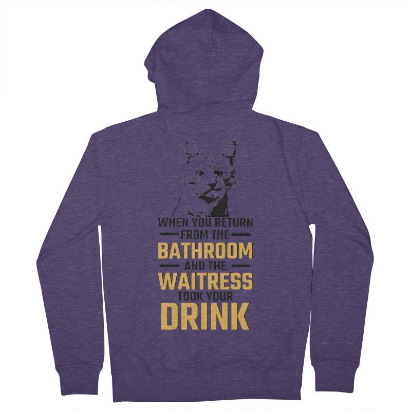 Wheres my Drink Men's Zip-Up Hoody by Mini Moo Moo Clothing Company