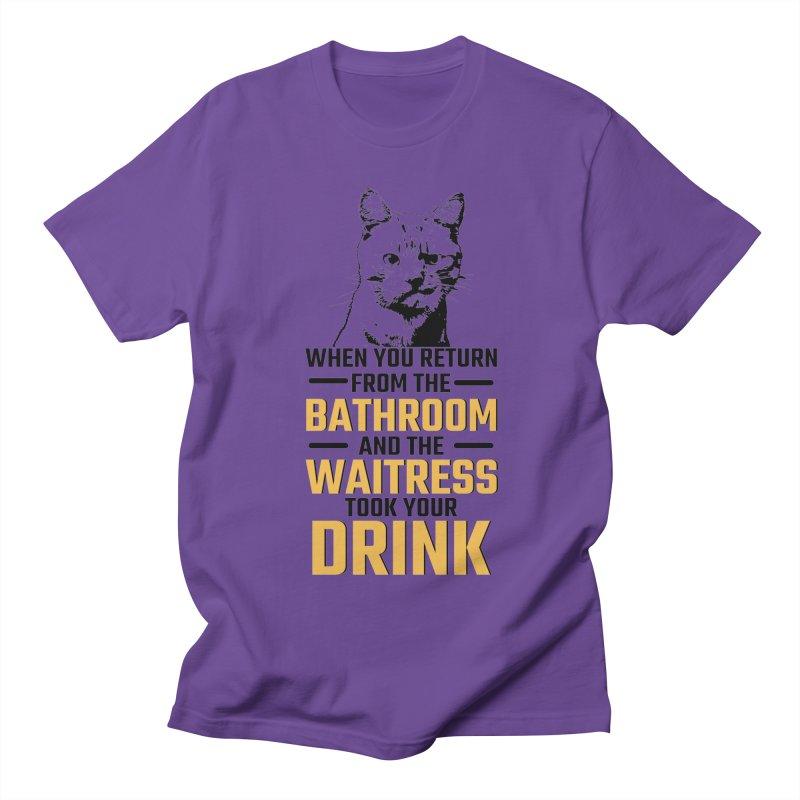 Wheres my Drink Men's T-Shirt by Mini Moo Moo Clothing Company