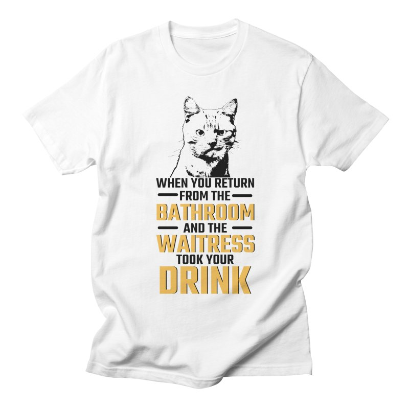 Wheres my Drink Women's Regular Unisex T-Shirt by Mini Moo Moo Clothing Company
