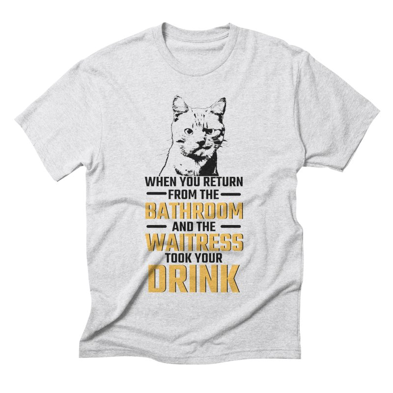 Wheres my Drink Men's Triblend T-Shirt by Mini Moo Moo Clothing Company