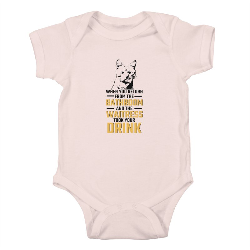 Wheres my Drink Kids Baby Bodysuit by Mini Moo Moo Clothing Company