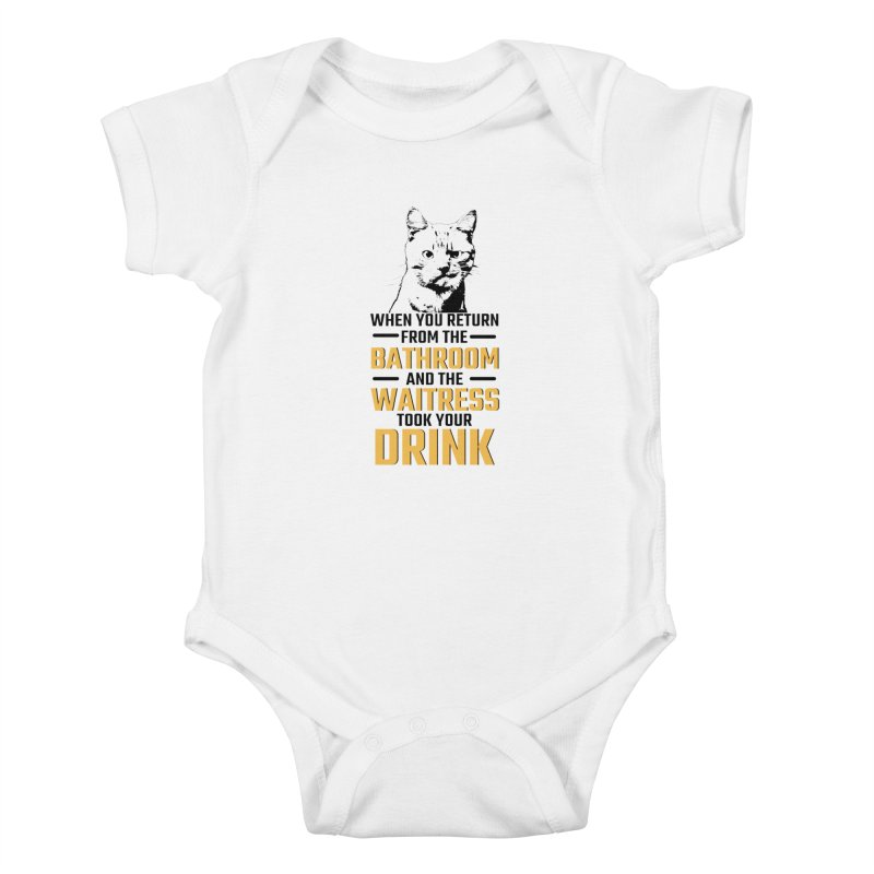 Wheres my Drink Kids Baby Bodysuit by Mini Moo Moo Clothing Company