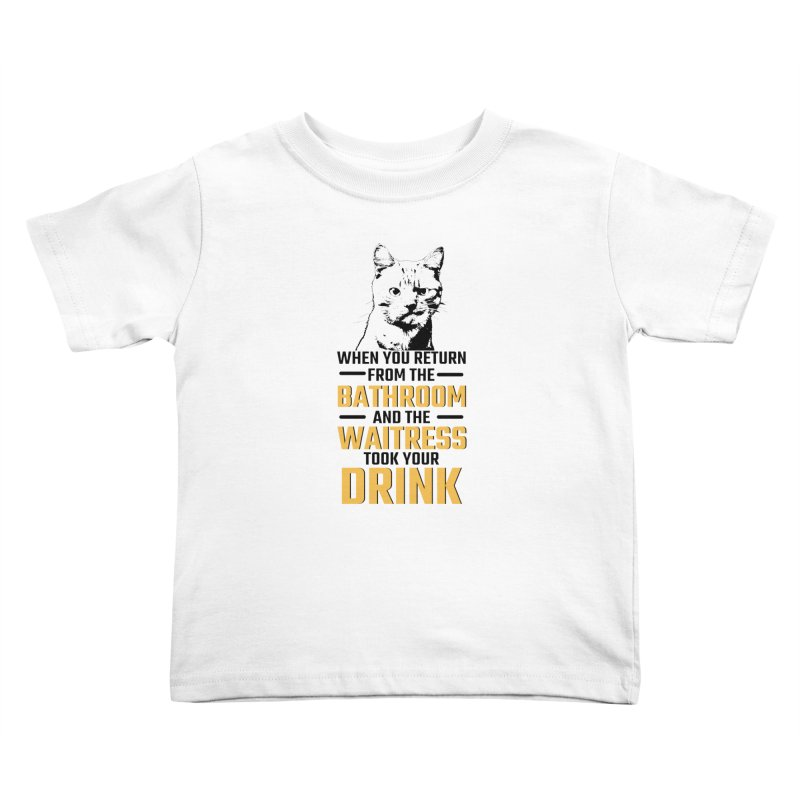 Wheres my Drink Kids Toddler T-Shirt by Mini Moo Moo Clothing Company