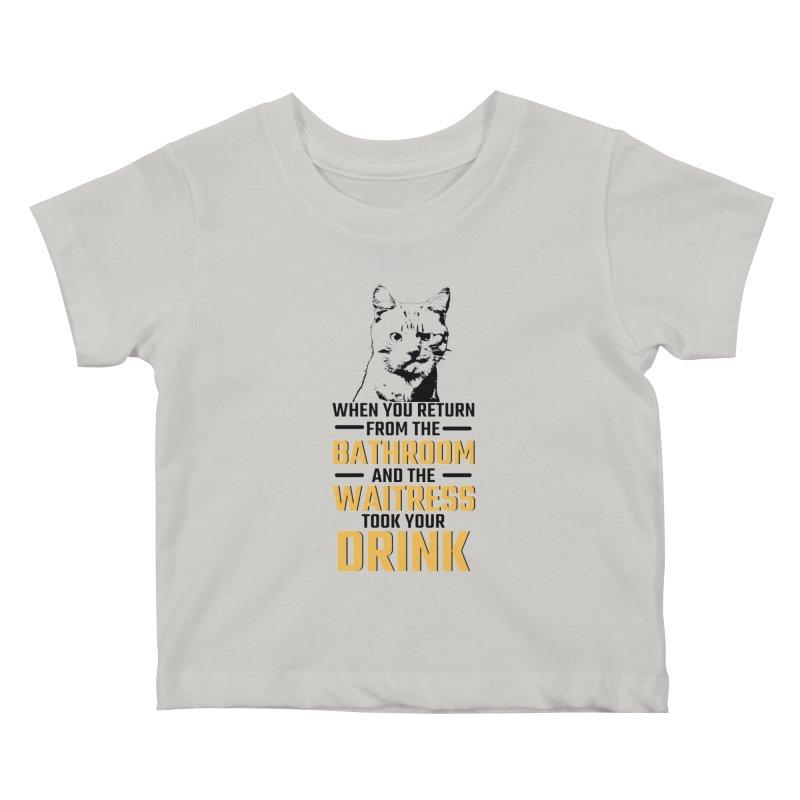 Wheres my Drink Kids Baby T-Shirt by Mini Moo Moo Clothing Company