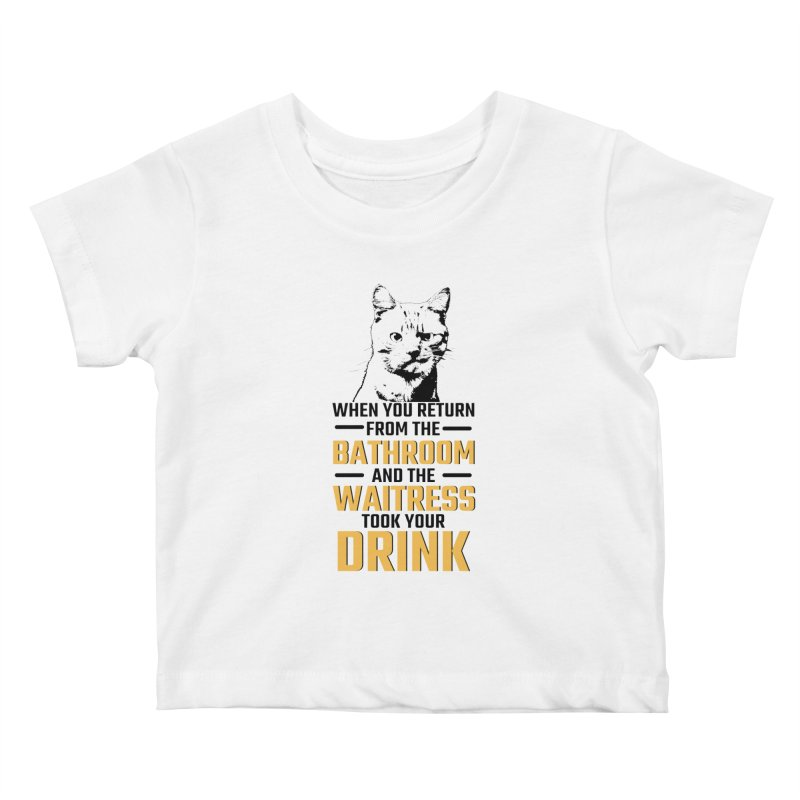 Wheres my Drink Kids Baby T-Shirt by Mini Moo Moo Clothing Company