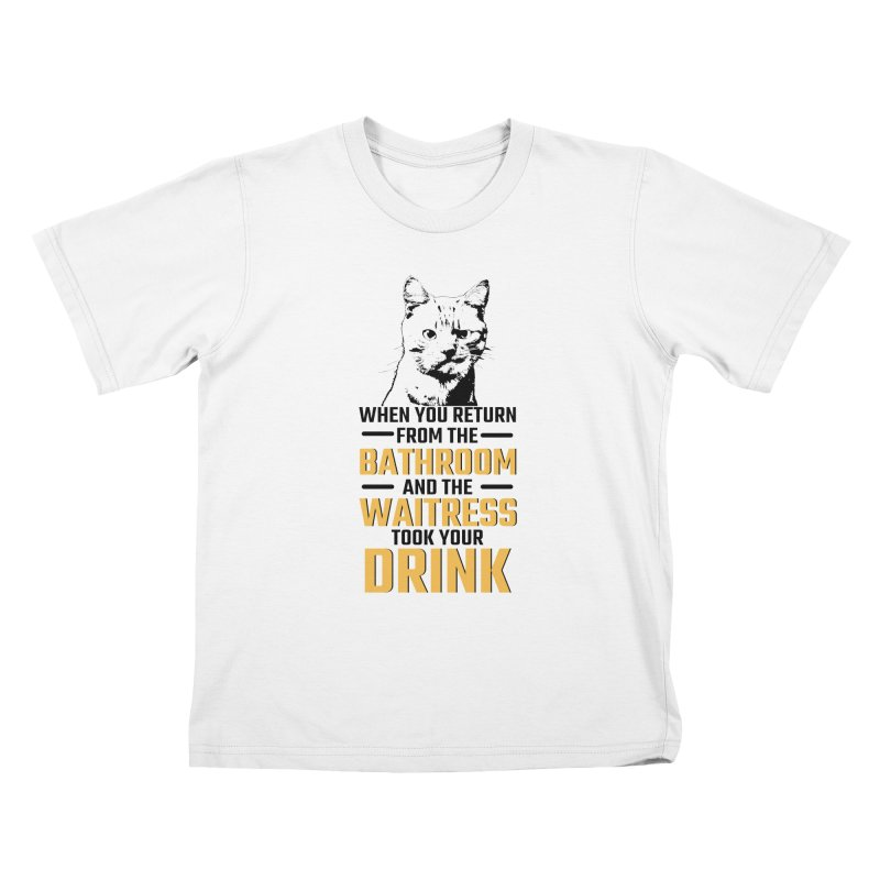 Wheres my Drink Kids T-Shirt by Mini Moo Moo Clothing Company